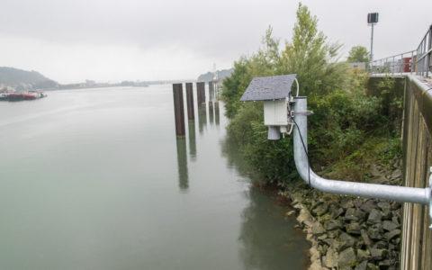 Rivermeter am Ennshafen